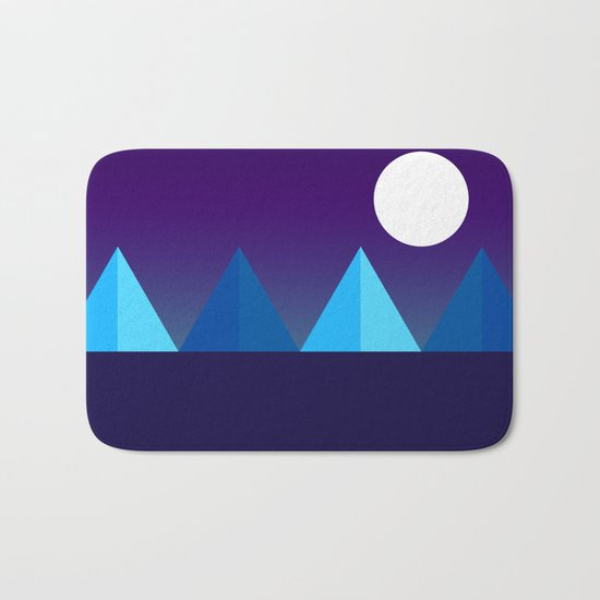 Pyramids in Moonlight Bath Mat