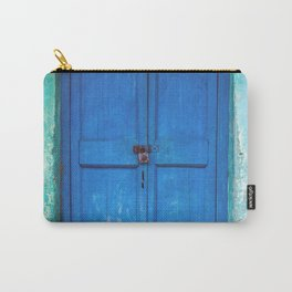 Blue Indian Door Carry-All Pouch
