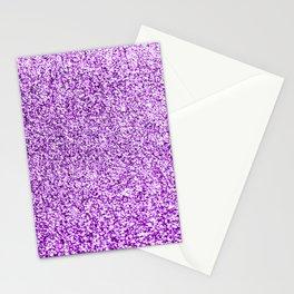 Purple glittery Stationery Cards