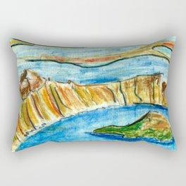 Crater Lake National Park - Oregon Travel Poster Rectangular Pillow