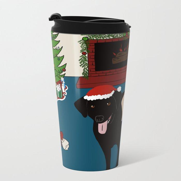 Labs Love Christmas! Metal Travel Mug