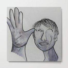 ASL Father in Denim Colors Metal Print