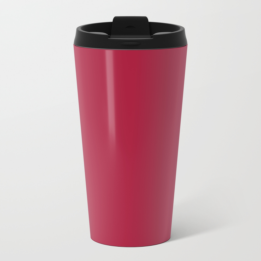 Deep Carmine - Solid Color Travel Cup TRM8492616
