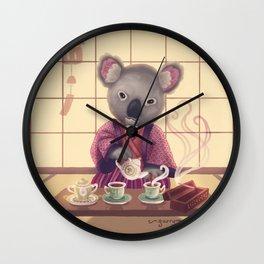 Eucalyptus Tea Ceremony Wall Clock