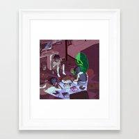 ouija Framed Art Prints featuring Ouija by dqhantom