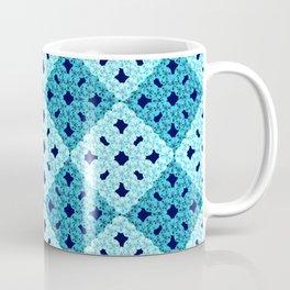 geometric blue pattern Coffee Mug