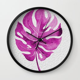Pink Leave - Nature Wall Clock