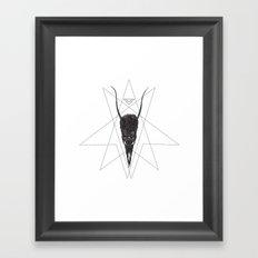 sleeping demon Framed Art Print