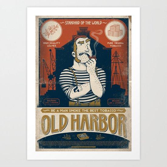 Classic Posters. Old Harbor Art Print