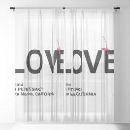"""LOVE"" Sheer Curtain"