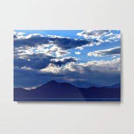 Blue Sky Dusk Metal Print