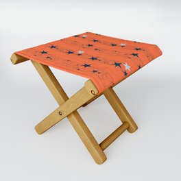 Orange Juice Stars Folding Stool