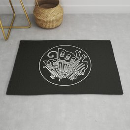 Taira Clan · White Mon · Outlined Rug