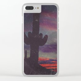 Darkness In The Desert - America As Vintage Album Art Clear iPhone Case