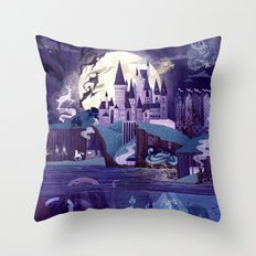 Never a Quiet Year at Hogwarts Throw Pillow