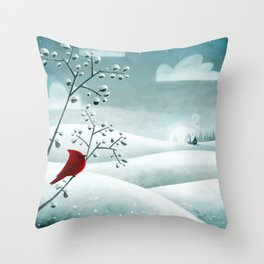 Cardinal by Friztin Throw Pillow