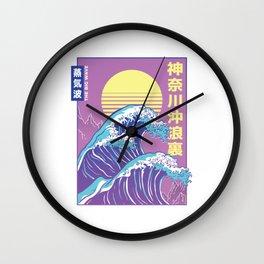Aesthetic Vaporwave the big Wave Wall Clock