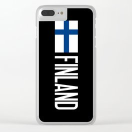 Finland: Finnish Flag & Finland Clear iPhone Case