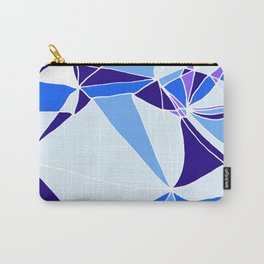 Blue mosaic Abstract artwork Carry-All Pouch