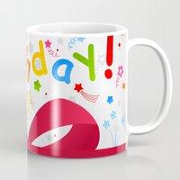 birthday Mugs featuring Birthday by aleksander1