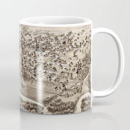 Vintage Pictorial Map of Mt Pleasant MI (1884) Coffee Mug