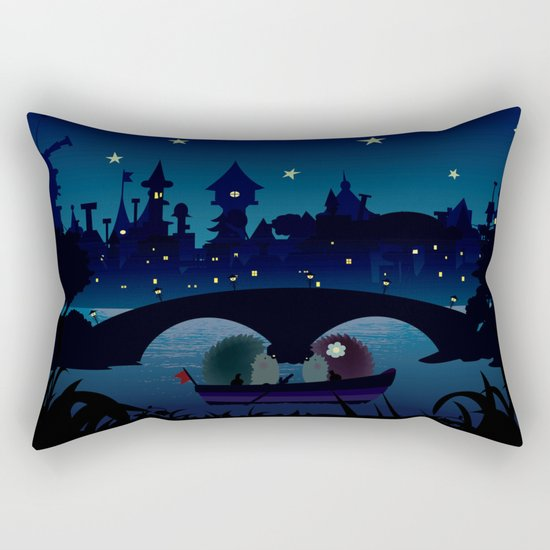 Hedgehogs in the night Rectangular Pillow