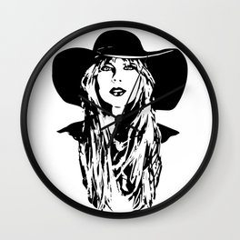 PORTRAIT OF A FEMALE POP SINGER AND SUPERSTAR Wall Clock