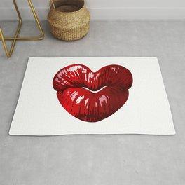 Heart Shaped Lips Rug