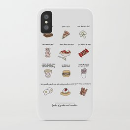 Foods of Parks and Rec iPhone Case