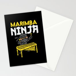 Marimba Ninja For Marimba Mallets Stationery Cards