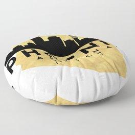 PHOENIX ARIZONA SILHOUETTE SKYLINE MAP ART Floor Pillow
