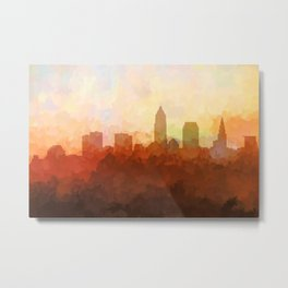 Cleveland, Ohio Skyline - In the Clouds Metal Print