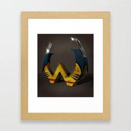 Superbet 'W' Framed Art Print