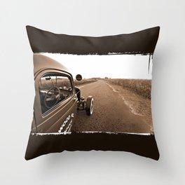 1942 Chevy Rat Rod Throw Pillow