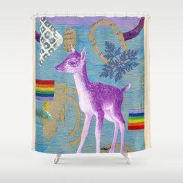 rainbow deer 2 Shower Curtain