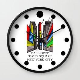Ball Drop Times Square Wall Clock