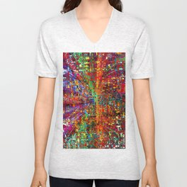 colourful peace Unisex V-Neck