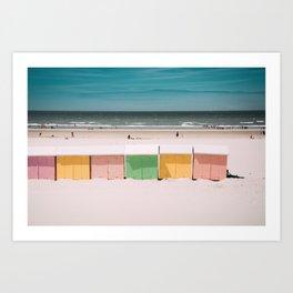 Beach Cabins North Sea Art Print