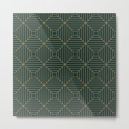 Green Velvet Tile Metal Print
