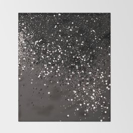Blush Gray Black Lady Glitter #2 #shiny #decor #art #society6 Throw Blanket