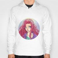 redhead Hoodies featuring Cute Redhead by Elisa Ellie Serio