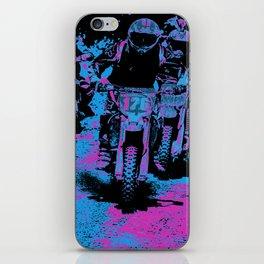 """Born to Race"" Motocross Dirt-Bike Champion Racer iPhone Skin"