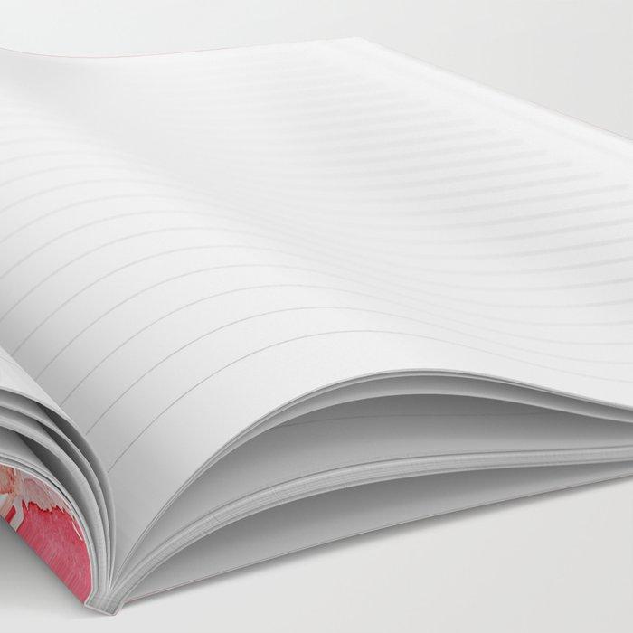 Pressed Poppy Blossom Pattern Notebook