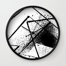 black and white spray paint Wall Clock