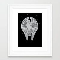 millenium falcon Framed Art Prints featuring The REAL Millenium Falcon by Scott Neilson