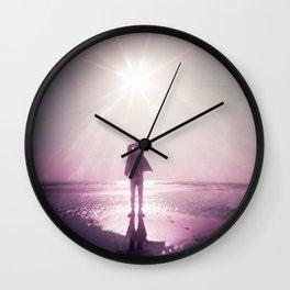 Sunlight Silhouette in Violet -  Holga photograph taken on the Oregon Coast Wall Clock