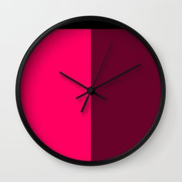 Pink and Red Wall Clock