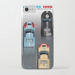 GT40 Le Mans 1966, Finish side by side iPhone Case