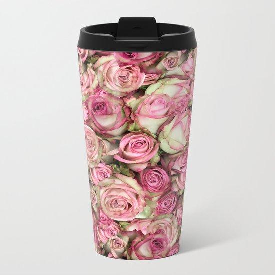 Your Pink Roses Metal Travel Mug