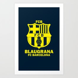 Slogan Barcelona Art Print
